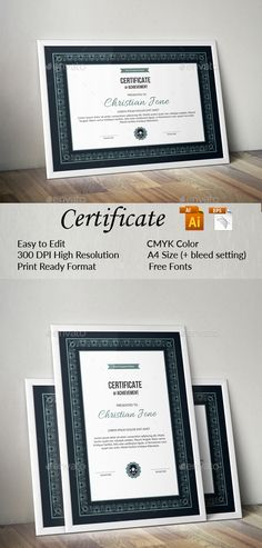 297 best Certificate Templates images on Pinterest   Letterhead     Certificate Design  Certificate Templates  Award Certificates  Stationery  Design  Design Awards  Certificate Of Appreciation  Fonts  Ai Illustrator   Logo