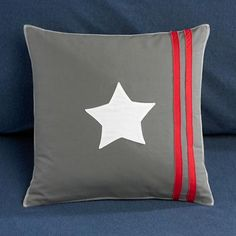 Grey All-Star Throw Pillow from Land of Nod