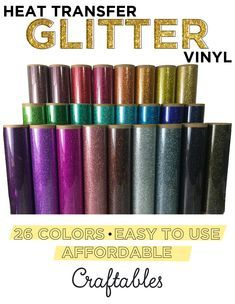 beautiful and easy to apply glitter heat transfer iron on vinyl for many kinds of projects.