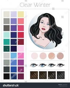 Clear Winter Color Type Appearance Women Stock Vector (Royalty Free) 1120770149