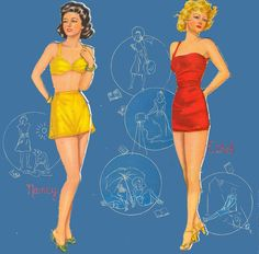 Fashion Cut Out Dolls with Cloth Like Cloths Whitman 1945 #995 - Bobe Green - Picasa Web Albums