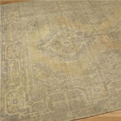Pale Slate Blue & Beige Antique Oushak Rug  so outrageously out of my price range but cool