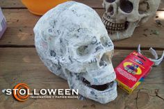 How to make a papier mache skull. this is a very good tutorial.
