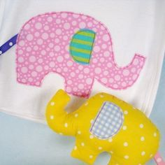Download Elephant Softie & Applique Sewing Pattern | Baby | YouCanMakeThis.com