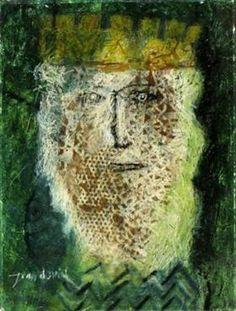 "King David - Jean David Illustration for Sașa Pană's ""the romanticised life of god"" (1932)"