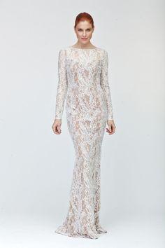 NWT Carmen Marc Valvo Long Sleeve Lace Dress  *Size 14 #CarmenMarcValvo #Formal