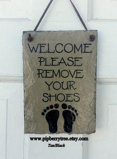 Decorative Slate Signs Custom Hand Painted Decorative Slate Sign Slate Signcaution Children At Review