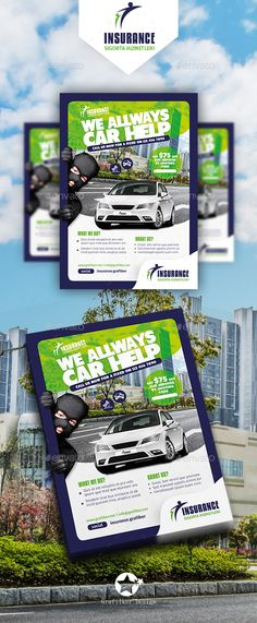 Insurance Flyer Templates — Photoshop PSD #fuze #fitness • Download ➝ https://graphicriver.net/item/insurance-flyer-templates/19065737?ref=pxcr