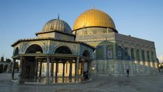 Al-Aqsa Mosque is a sacred place for all Muslims, so honoring and defending it is an obligation. In addition, the fact that it is blessed was established in the Quran and the Prophetic Sunanah. #Islam #muslim #Alaqsa Muslim Pray, Islam Muslim, Palestine Liberation Organization, Dome Of The Rock, Noble Quran, Peace Be Upon Him, Place Of Worship, Slammed, Jerusalem