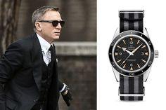 MONOCHROME: Daniel Craig to wear an Omega Seamaster 300 Master Co-Axial on striped NATO Strap in James Bond 007 Spectre
