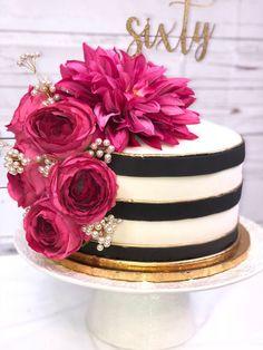 Kate Spade Bridal Shower Ideas - Cosas Que Debe Saber Para La Fiesta Kate Spade Party, Kate Spade Bridal, Kate Spade Cakes, Pretty Cakes, Beautiful Cakes, Bolo Paris, Cake Pink, 40th Birthday Parties, Cake Birthday