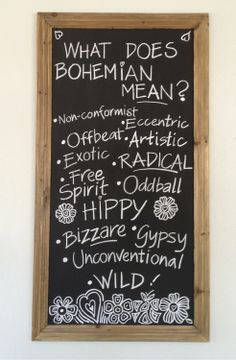 #bohemian #chalkboard #defintion