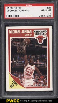 5bdc504b7e1 1989 Fleer Basketball Michael Jordan #21 PSA 10 GEM MINT (PWCC) #PSA10
