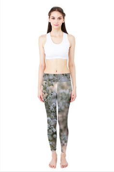 Babies Breath Yoga Leggings $35 by designer Nikky Starrett   Free shipping on orders over $50!