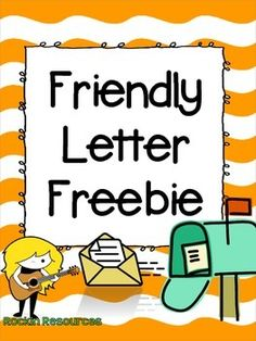 Free!!!!  Enjoy a free resources from Rockin  Resources!  I created it for a review of friendly letter writing with my fourth graders.This products contains:1.  A teaching slide for the 5 parts of a friendly letter.2.  A teaching slide for capitalization and punctuation for a friendly letter.3.