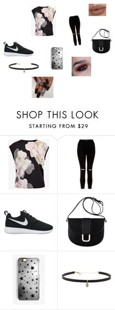 """""""Untitled #8"""" by sharmainewesby ❤ liked on Polyvore featuring Ted Baker, New Look, NIKE, A.P.C., Rianna Phillips and Carbon & Hyde"""