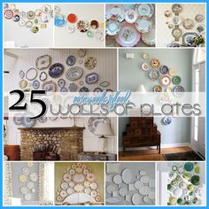 25 Amazing Plate Arrangements! Check them all out! I love using plates, so economical and gorgeous. Some of my prettiest fruit scenes have come from dollar store!