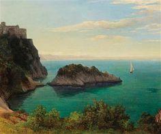 Thomas Ender (Vienna 1793–1875) - View of Schloß Duino near Trieste.