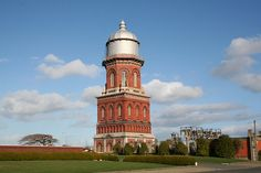 The high red brick Zealand Water Tower is high and was finished in 1889 for the Public Works Department. New Zealand Houses, World Water, The Beautiful Country, New Zealand Travel, Water Tower, Travel Posters, Brick, Architecture, Building