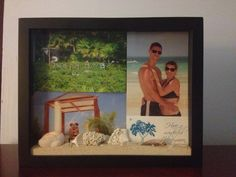 Use a shadow box to put pictures in from the honeymoon (or any trip!), and add shells and sand from the location.