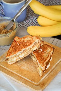 Fried Maple PB Banana Bacon Sandwichs