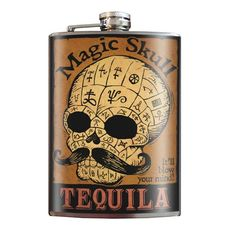 """""""Magic Skull Tequila"""" Flask by Trixie & Milo"""