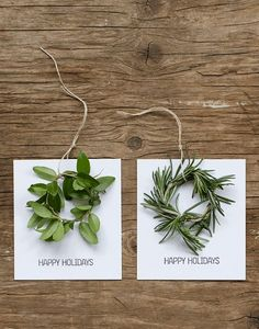 How to Make Mini Wreath Holiday Cards  Apartment Therapy  DIY  Holiday crafts