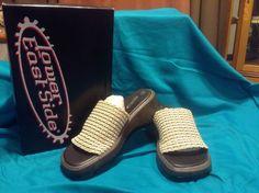Women Ladies NWB Lower East Side Slides Wedges Sandals Slip Ons Tan Bone SZ 9.5 #LowerEastSide #PlatformsWedges #Casual
