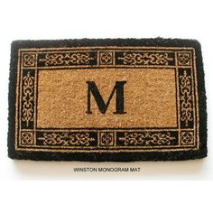 "Geo Crafts Imperial Winston Doormat Rug Size: 18"" x 30"", Letter: N"