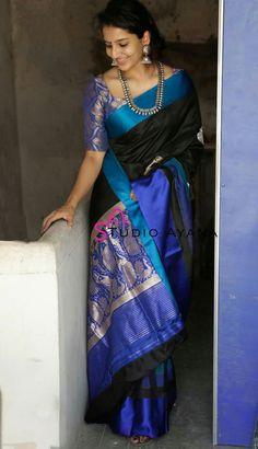 Kasavu Saree, Kanjivaram Sarees Silk, Kota Silk Saree, Sari, Saree Dress, Indian Bridal Sarees, Bridal Silk Saree, Indian Beauty Saree, New Saree Designs
