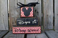 Personalized  COUNTDOWNS chalkboard wood block set. . . Christmas, vacation, birthday, Halloween, Disneyland, grandma primitive. $19.95, via Etsy.