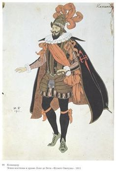 "Costume design for the drama of Lope de Vega's ""Fuente Ovejuna"" - Ivan Bilibin"
