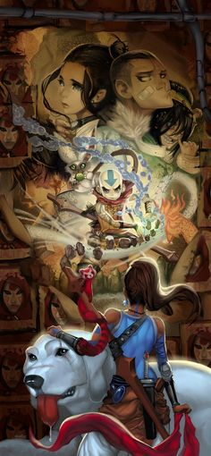 """Avatar: The Legend of Korra. With the exception of toph picking her nose it's a great picture. I can just hear Aang saying, """"I am not a woman! Avatar Aang, Team Avatar, Avatar The Last Airbender, Legend Of Korra, Manga Comics, Fan Art Avatar, Blade Runner, Anime Manga, Anime Art"""