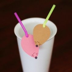 14 DIY decorated straw ideas! But ra-ra-ra-raaaaaaaaaaaaaattttttttttttttttttsssssss