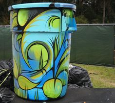 Art Trashcan- a way to look at functional objects for beauty.