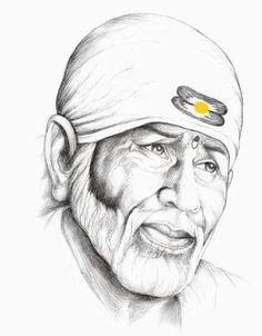 Baba Help: Sai always helps people are who are facing difficulties in their life. Sai Baba Pictures, Sai Baba Photos, God Pictures, Pictures To Draw, Girl Drawing Sketches, Pencil Art Drawings, Baby Drawing, Life Drawing, Buddha Painting