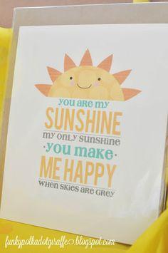 Funky Polkadot Giraffe: Box of Sunshine: Gift to Brighten a Day  #Free Printable