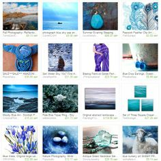 Blue water, clear skies. Etsy.com treasury, celebrating all things blue.  #photography #art #jewelry #blue #gemstones