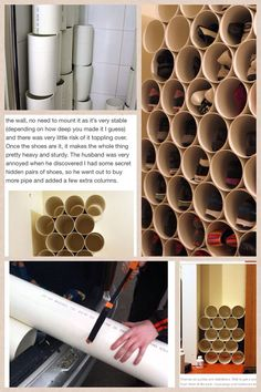 Pvc pipe, clothes pens (binder clips or c clamps) saw, epoxy glue diy in 20 Small Space Interior Design, Decorating Small Spaces, Interior Design Living Room, Diy Clothes Storage, Clothing Storage, Diy Clothing, Pvc Pipe Storage, Diy Storage, Diy Shoe Rack