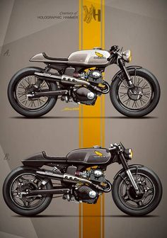 Honda Custom Cafe Racer by Holographic Hammer Ducati Cafe Racer, Cafe Bike, Cafe Racer Bikes, Cafe Racer Motorcycle, Motorcycle Design, Motorcycle Art, Bike Design, Classic Motorcycle, Motos Honda