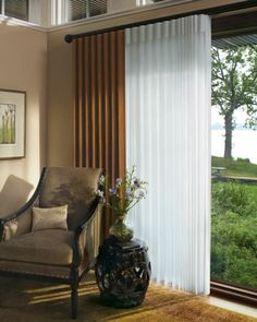 Perfect for large windows and sliding glass doors. #luminette