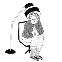Mamie bigoudis par Marie Bretin