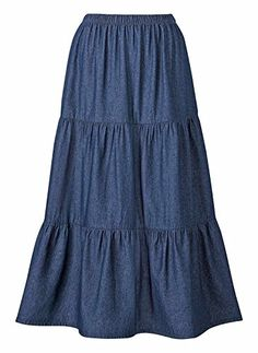 100% Cotton Denim Skirt Sizes S M L (30 long), Color Dark Blue, Size LG >>> See this awesome image @