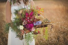 stunning wedding bouquet | modern organic bohemian wedding bridal pictures | The Kama Photography