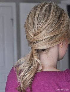 I love this blog!! She offers A LOT of video tutorials for those of us that are hair-styling challenged. Not just a ponytail. The Small Things Blog: Hair