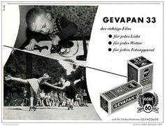 Original-Werbung/ Anzeige 1954 - GEVAPAN FILM / GEVAERT - ca. 130 x 100 mm