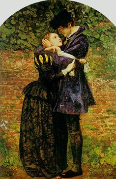"""""""A Huguenot on St. Bartholomew's Day Refusing Himself from Danger by Wearing the Roman Catholic Badge"""" by John Everett Millais (1852)"""