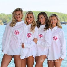 Monogrammed Oversized Bridesmaid Button Down