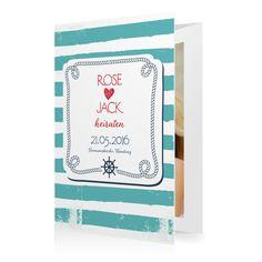 Hochzeitseinladung Maritim in Meergruen - Doppelklappkarte hoch gewickelt #Hochzeit #Hochzeitskarten #Einladung #Foto #modern https://www.goldbek.de/hochzeit/hochzeitskarten/einladung/hochzeitseinladung-maritim?color=meergruen&design=ab989&utm_campaign=autoproducts