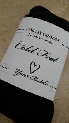 Groom Socks. In Case You Get Cold Feet Groom by BackroadGraphics